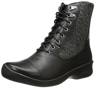 KEEN Women's Bern Baby Bern Lace Casual Boot,Black,5 ...