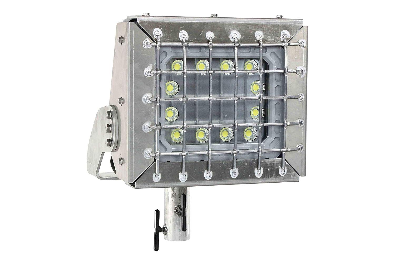 Explosion proof 100 watt stanchion led light fixture wire guard class 1 division 1 amazon com