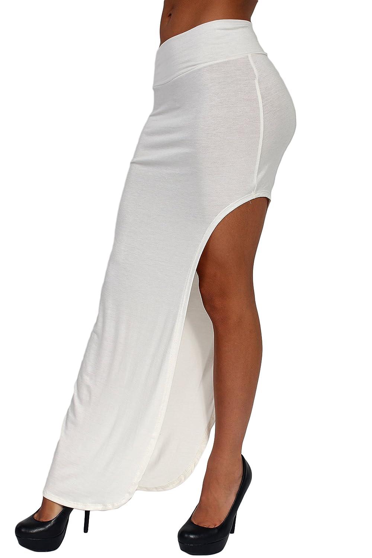 Womens Skirt Split Open Side Full Length Rayon Made in The USA Ivory ST515-OPENSIDE.SKIRT-SIZECOLOR
