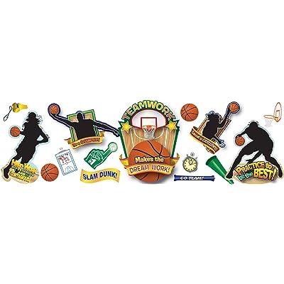 Eureka Classroom Supplies Basketball Fun Bulletin Board Set, 22 pcs : Childrens Basic Skills Development Toys : Office Products