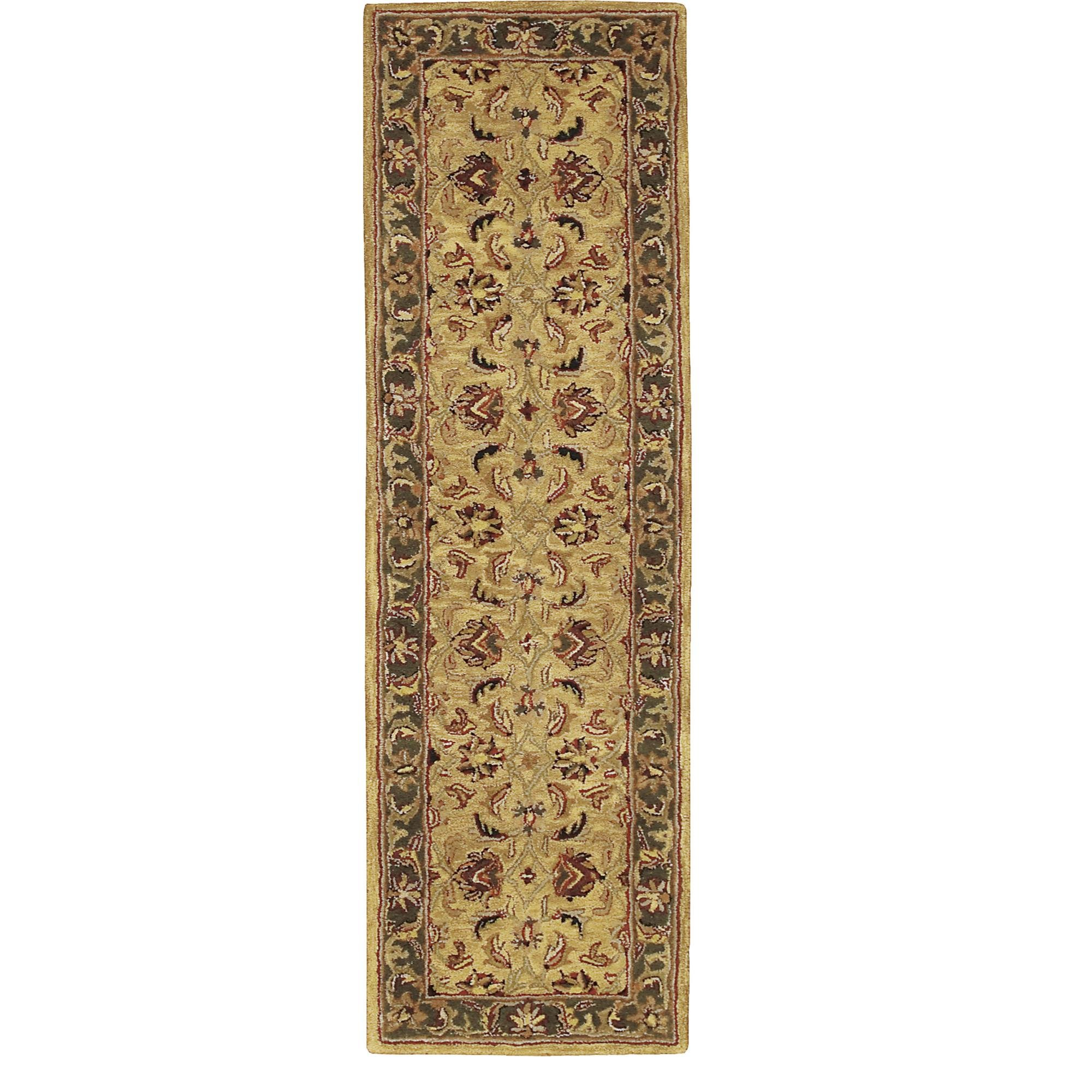 Nourison India House (IH17) Gold Runner Area Rug, 2-Feet by 7-Feet  (2' x 7')