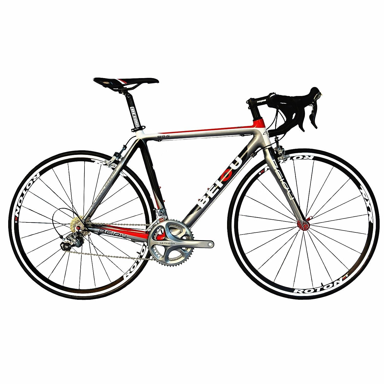 BEIOU®2017 700CロードバイクシマノULTEGRA 10Sレーシングバイク540mm 560mm T700-M40カーボンファイバーバイク超軽量18.4lbs CB001UT [並行輸入品] B078B9S22J   580mm