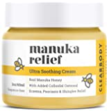 Eczema Psoriasis Honey Cream for Dry Itchy Cracked Irritated Skin- Manuka & Collodial Oatmeal Treatment for Dermatitis…