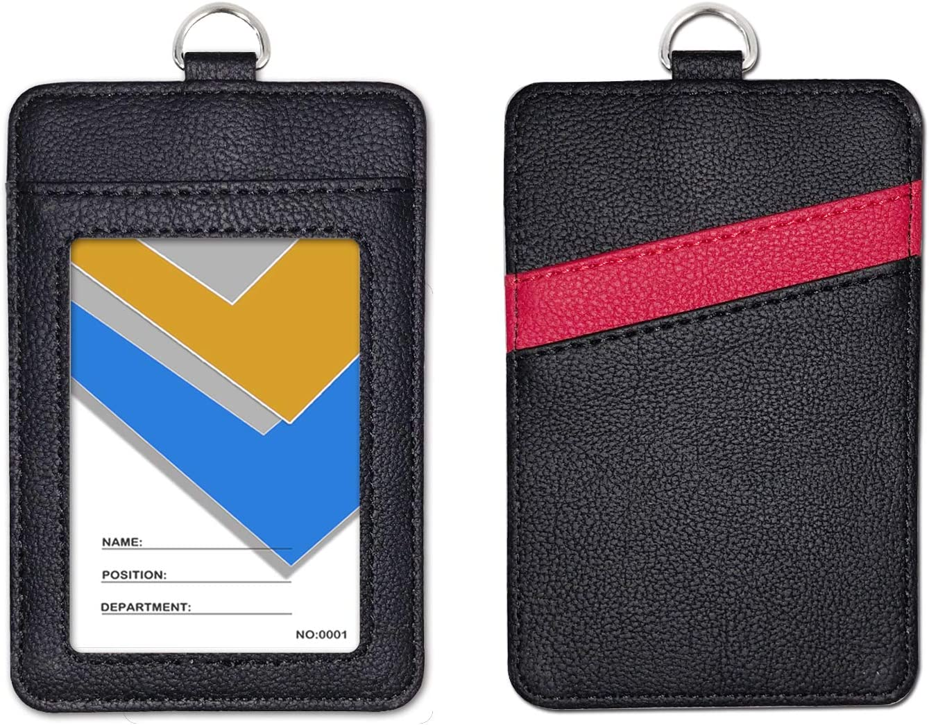 Hang about the Neck Leather Security ID Holder