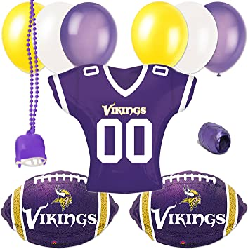 0c6ec8b2e06 Image Unavailable. Image not available for. Color: Minessota Vikings  Football Balloon Party 11pc Jersey ...