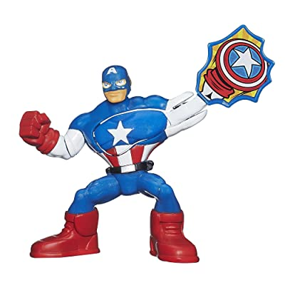 Playskool Heroes Marvel Super Hero Adventures Captain America Figure: Toys & Games
