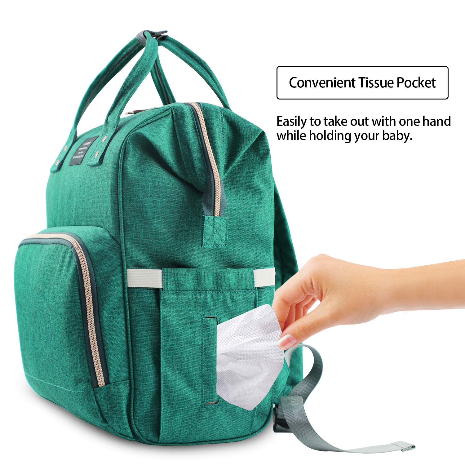 Baby Diaper Bag Large Capacity Mommy Backpack Baby Nappy Tote Bags Multi-function Travelling Backpack for Mom