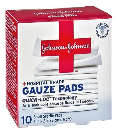 amazon com johnson johnson hospital grade 2x2 gauze pads 10 ct