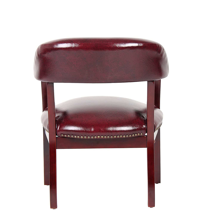 Amazon Boss Captain s Chair In Burgundy Vinyl Kitchen & Dining