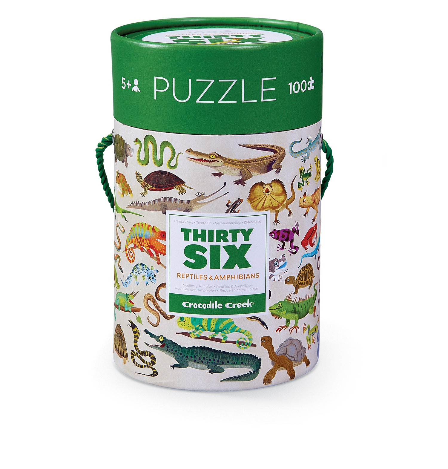 Crocodile Creek Thirty-Six Reptiles 100Piece Jigsaw Puzzle in Canister Puzzle by Crocodile Creek