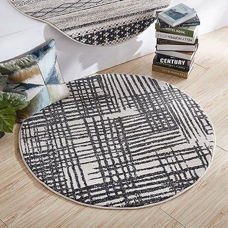 Terrific Amazon Com Hongyan Carpet Modern Scandinavian Round Carpet Ibusinesslaw Wood Chair Design Ideas Ibusinesslaworg