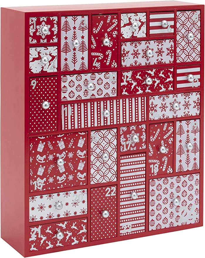 Christmas Countdown 2020 L Amazon.com: HYGGEHAUS Wooden Advent Calendar for Kids and Adults