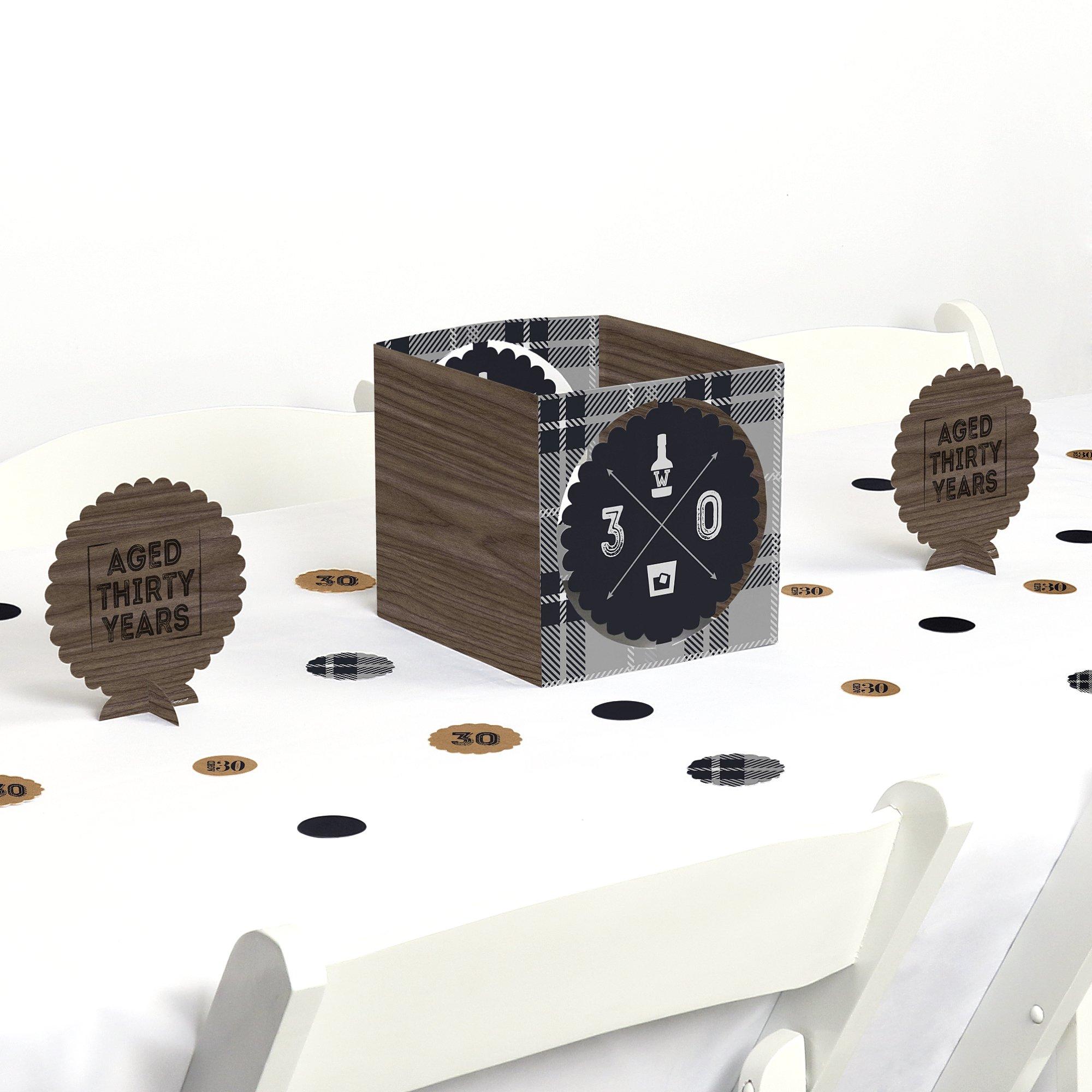 30th Milestone Birthday - Dashingly Aged to Perfection - Birthday Party Centerpiece & Table Decoration Kit