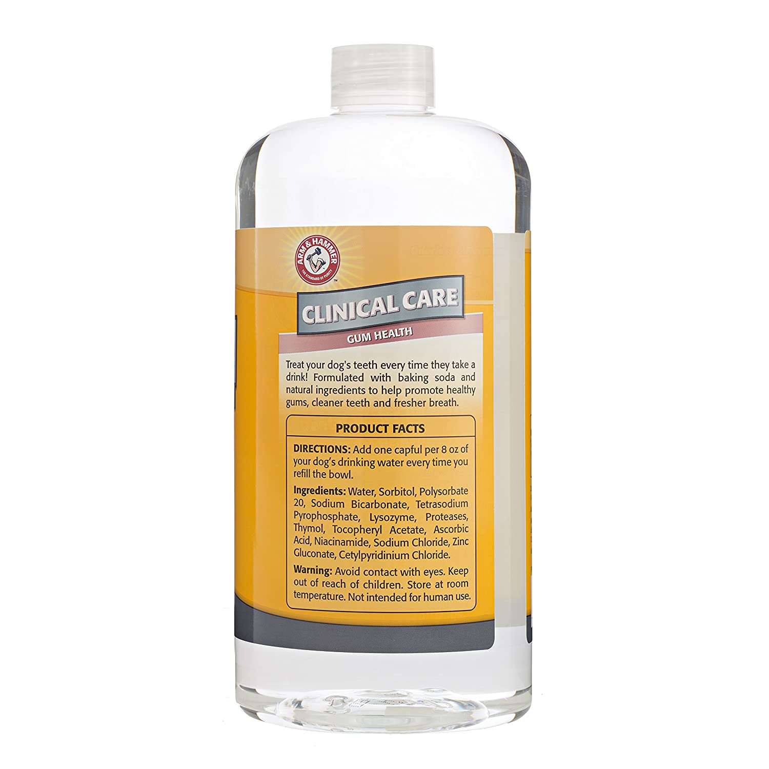 company of animals arm hammer advanced care dental water additive