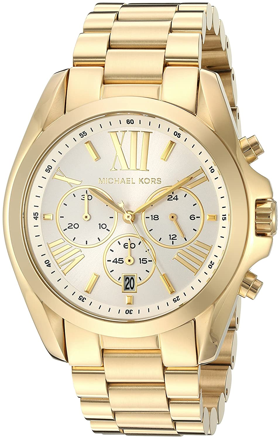ec5cbe833fbec Michael Kors Women s Bradshaw Gold-Tone Watch MK6266 4053858535558 ...