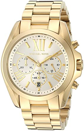 194bdb941909 Image Unavailable. Image not available for. Color  Michael Kors Women s Bradshaw  Gold-Tone Watch MK6266