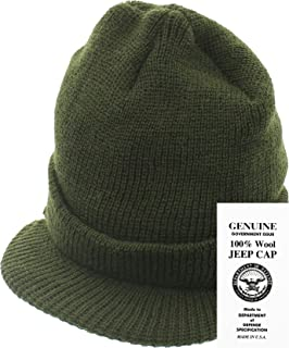 Amazon.com  US Army Wool Military Jeep Cap Hat  Skull Caps  Clothing 3ce527c3ddf