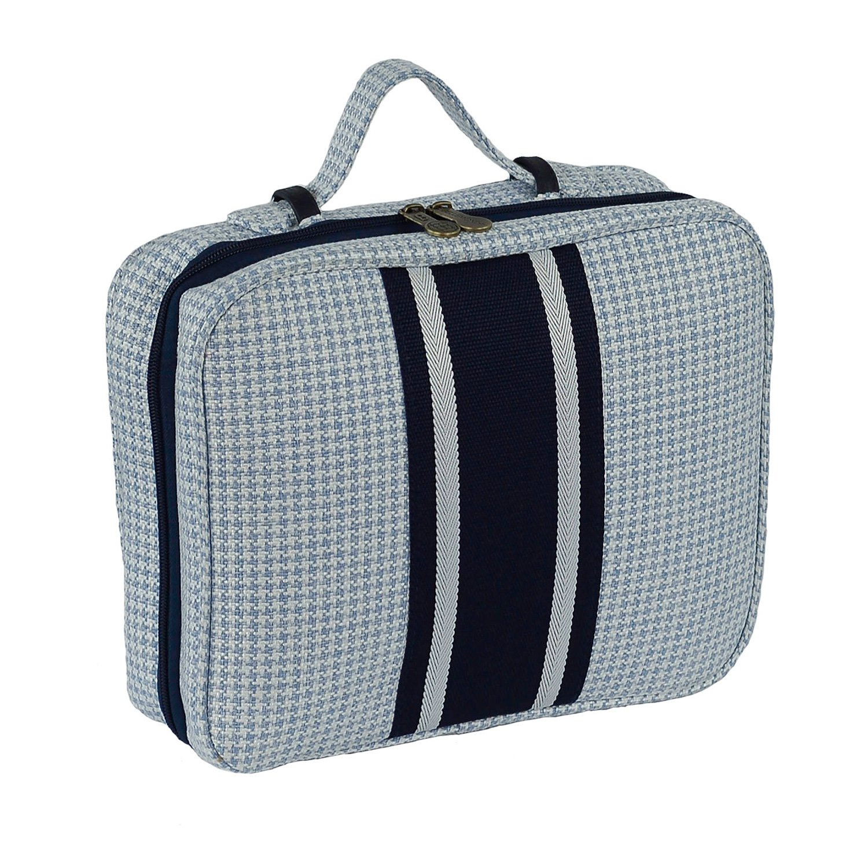 Bellemonde Hanging Toiletry Bag Travel Kit for Men and Women | Washable, Stain-resistant | Timeless Design Toiletry Organizer, Makeup Bag, Cosmetic Bag | Packs Flat 12'' x 10'' x 3.5'' | BL178PB Blue by Bellemonde (Image #3)