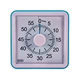 Wynnline 60-Minute Blue Visual Analog Timer - Countdown Clock with for Home, Office, School, Classroom, Sports & Games - No Loud Ticking - Kitchen Min