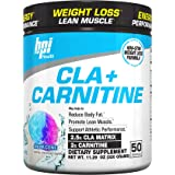 BPI Health CLA + Carnitine Non-Stimulant Weight Loss Supplement Powder, Snow Cone, 50 Servings, 11.29 Ounce