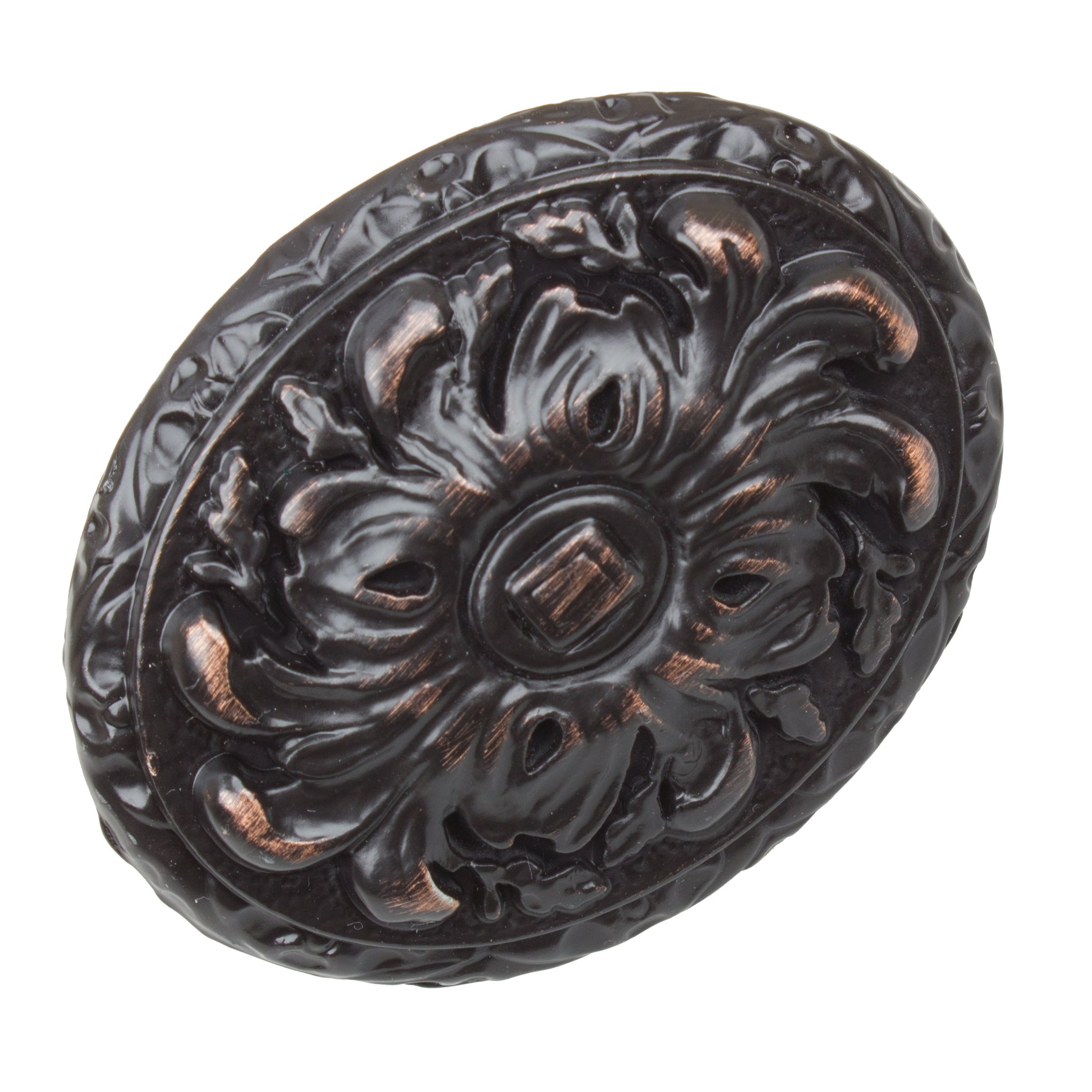 GlideRite Hardware 5710-ORB-50 Old World Ornate Oval Cabinet Knobs, 50 Pack, 2'', Oil Rubbed Bronze by GlideRite Hardware