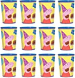 Peppa Pig Party Cup Reusable Cups (12x) ~ Birthday Party Supplies Plastic Favors by Amscan