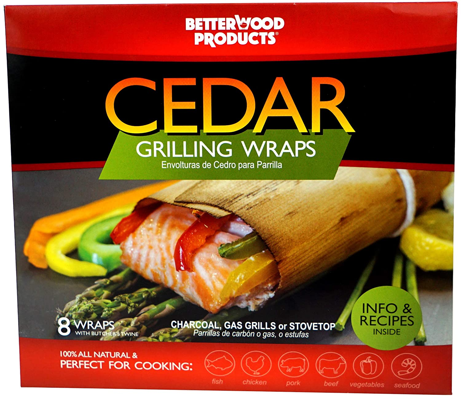 Amazon.com : Outdoor Grilling Accessories Set - Bundle of 8 items: BetterWood Products Cedar Grilling Planks (2-Pack), BetterWood Products Cedar Grilling ...