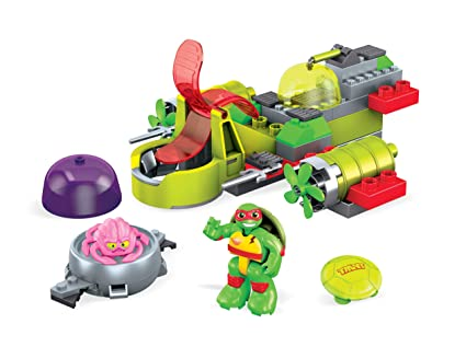 Amazon.com: Mega construx lanzador de tortugas teenage ...