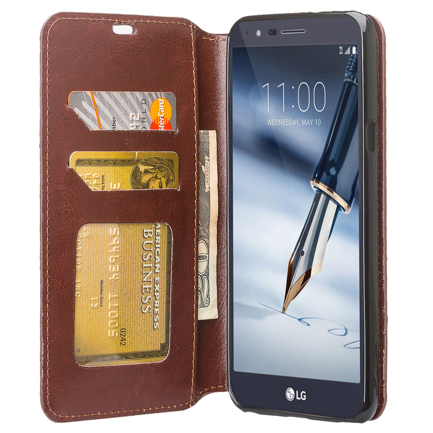 a1511a4bb2 Amazon.com: LG Stylo 4 Case, LG Stylo 4 Case Wallet [Kickstand] Pu Leather  Wallet Case Cover with ID&Credit Card Slot Phone Case For LG Stylo 4/Stylus  4 ...