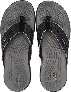 f13275227aed91 Crocs Men s Santa Cruz Canvas Flip Flop