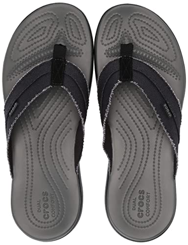 2d5648e1baa35 Crocs Men s Santa Cruz Canvas Flip Flop