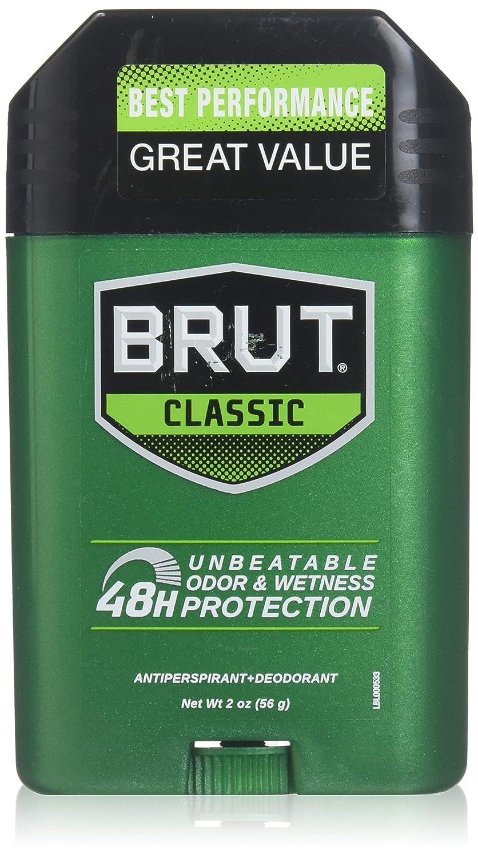 BRUT Anti-Perspirant Deodorant Stick Classic Scent 2 oz (Pack of 5) IDELLE LABS LTD