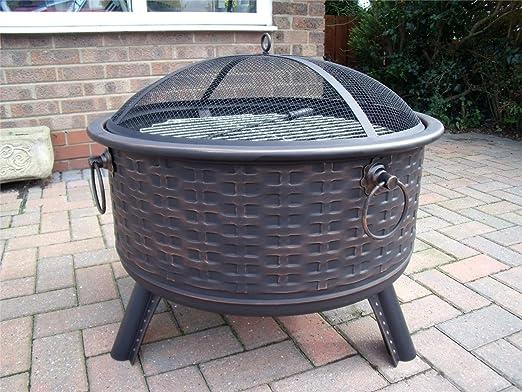 Hoguera de muebles de ratán estilo terrazas calefactor Metal ...