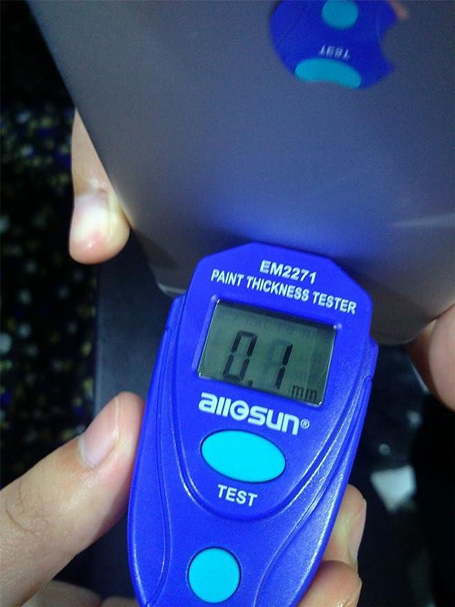 Digitaler KFZ Lackprüfer Lackschichten Messgerät Lackmesser Prüfgerät Schichtdickenmessgerät für Auto