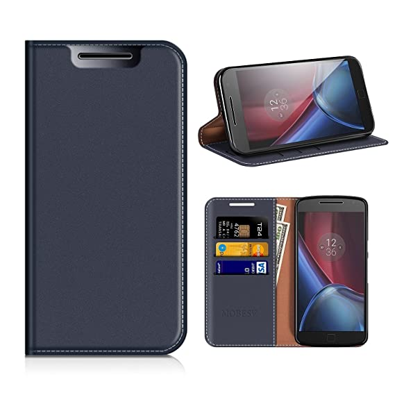 best website 8254b aca49 Amazon.com: Moto G4 Wallet Case, Mobesv Moto G4 Leather Case/Moto G4 ...