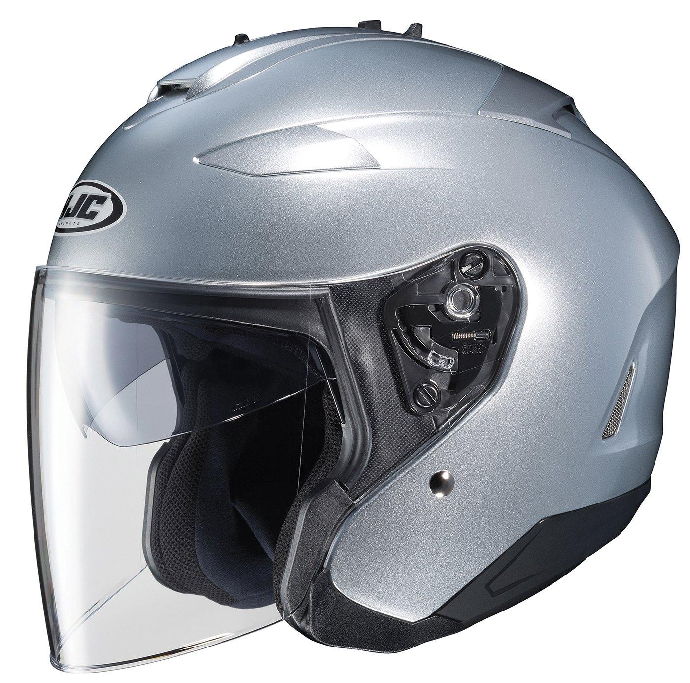 Silver, XX-Large HJC IS-33 II Open-Face Motorcycle Helmet 874-576