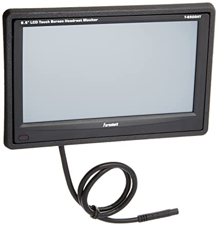 amazon com farenheit t 6500ht 6 5 lcd headrest monitor farenheit t 6500ht 6 5 quot lcd headrest monitor touch screen control of dvd
