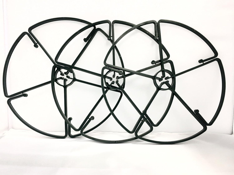 forestfox™ 3x Flower Support Rings Garden Plant Clip For Delicate Stalks Green 26cm Dia New