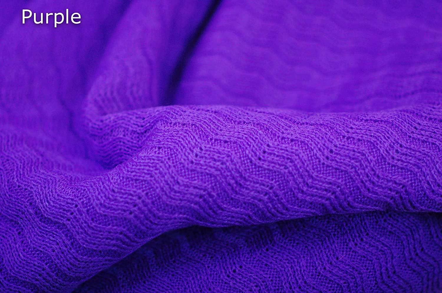 Neotrims Plain Solid Self Patterned Knit Rib Jersey Craft Fabric Material By The Yard. 20 Colours to Choose from, for Apparel, Crafts or Photography Backdrop. Unusual Textured Pattern with Racked Zig Zag Chevron Effect, Beautiful!