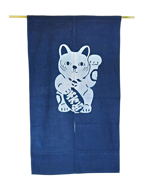 Beckoning Cat Noren Japonais Porte Rideau/ /Manekineko
