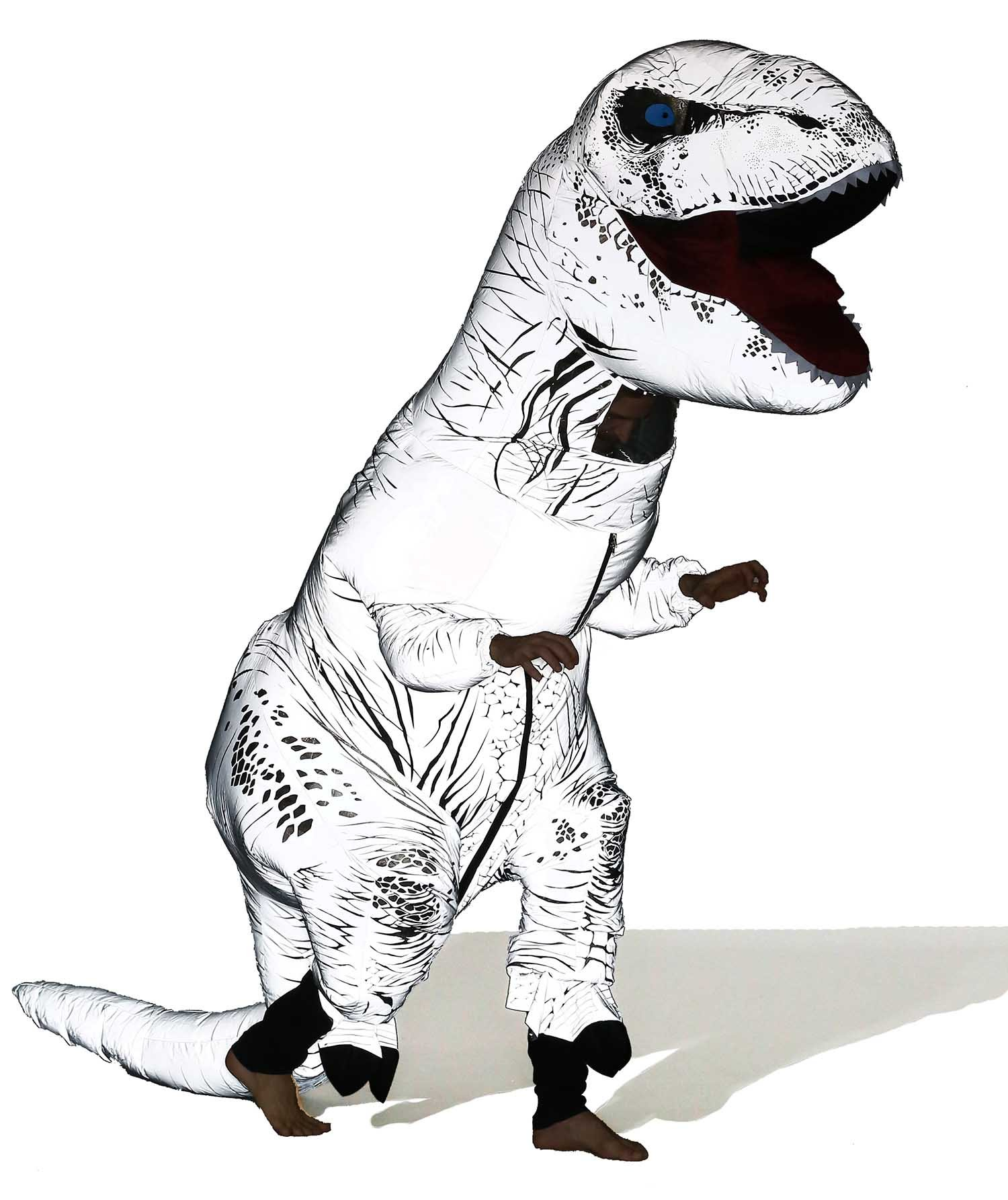 Jurassic T-rex Adult Size Halloween Party Cosplay Fancy Inflatable Costume (Night Walker)