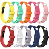 """Fitbit Flex 2 Band, MoKo [10 PACK] 10 Colors Soft Replacement Sport Strap Band with Clasp for Flex 2 Wireless Activity Bracelet Wristband, Wrist Length 5.03""""-7.08"""", Small Size, No Tracker"""