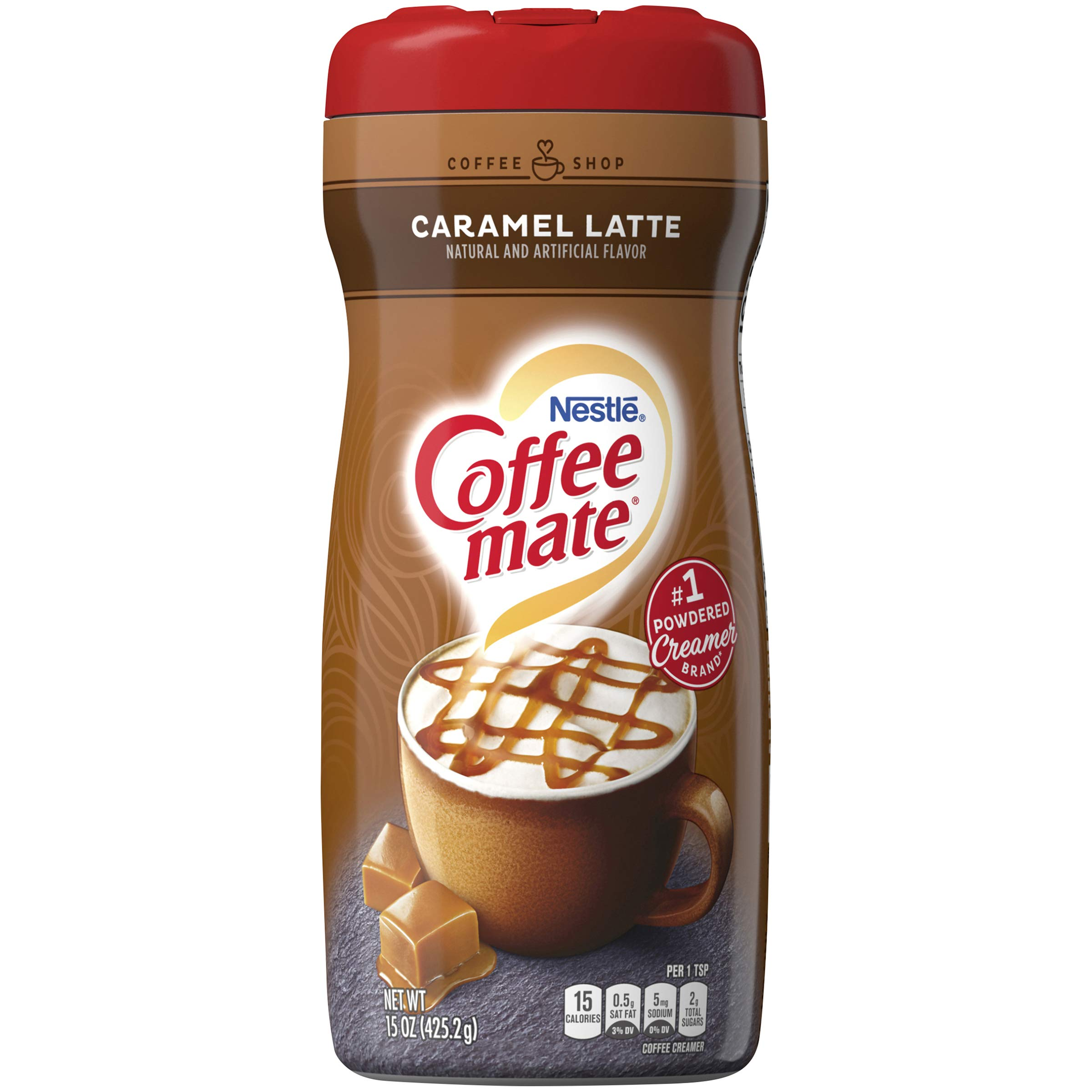 Nestle Coffee-Mate Coffee Creamer Caramel Latte, Pack of 6 (15 Ounce) by Coffee Mate