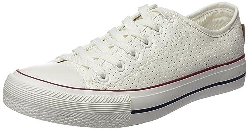 Springfield 3.T. Sneaker Punta Goma y Picados PU, Zapatillas para Mujer, Beige (Ivory), 40 EU: Amazon.es: Zapatos y complementos