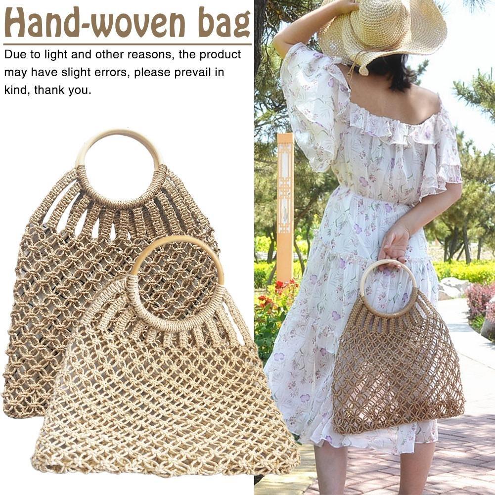 Amazon.com  Straw Summer Beach sea Shoulder Bag Handbag Tote Women Weave Handbags  2018 hot Sale Women s Classic Handwoven Handmade Natural Chic Hand Woven ... 157a02ee7b