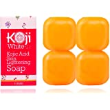 Pure Kojic Acid Skin Lightening Soap - Naturally Whitening for Tone Adjustment & Bleaching Skin - Remove Freckles, Fade Age Spots, Anti-aging, Acne Scars, Sun Spots Damage