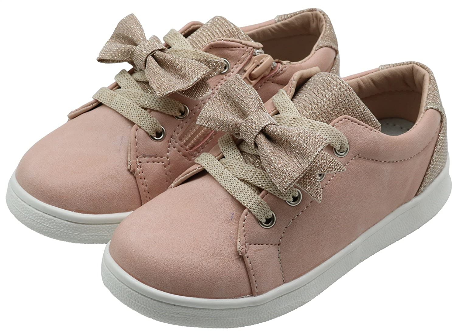 Toddler//Little Kid XB17002 Apakowa Kids Girls Sneakers Casual Shoes with Cute Bowknot