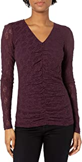 product image for Only Hearts Women's Stretch Lace Ruched Front Tee