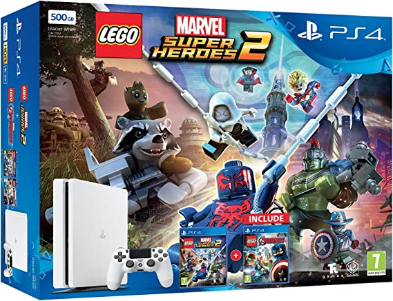 La consola PlayStation 4 de 500 gb Blanco + Lego Marvel Super Heroes 2 + Lego Avengers: Amazon.es: Videojuegos