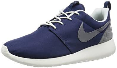 Nike Roshe Run Wildleder Herren Wasserdicht Royalblau Weiße Schuhe N2eL1MMbf